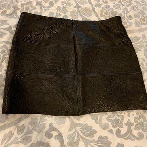 Anthropologie sourced Vegan Leather mini skirt